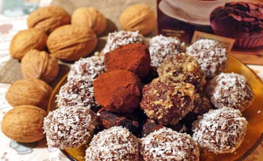 Домашние конфеты из овсянки