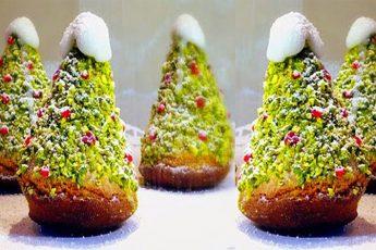 Бисквитные пирожные Ёлочки