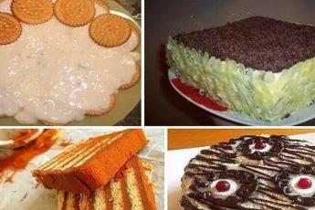 Торты из печенек -5 наилучших рецептов