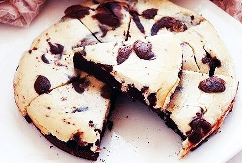 Брауни-чизкейк шоколадно-банановый
