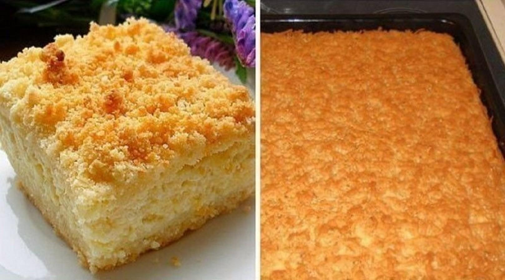 тертого пирога с творогом