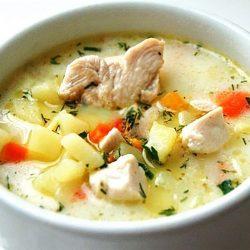Сырный суп с курицей: Простой рецепт очень вкусного блюда