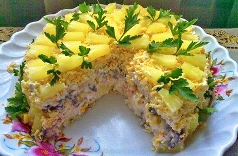 Торт-салат Чудо-слойка